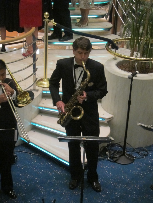 Big band set on board the Rhapsody of the Seas