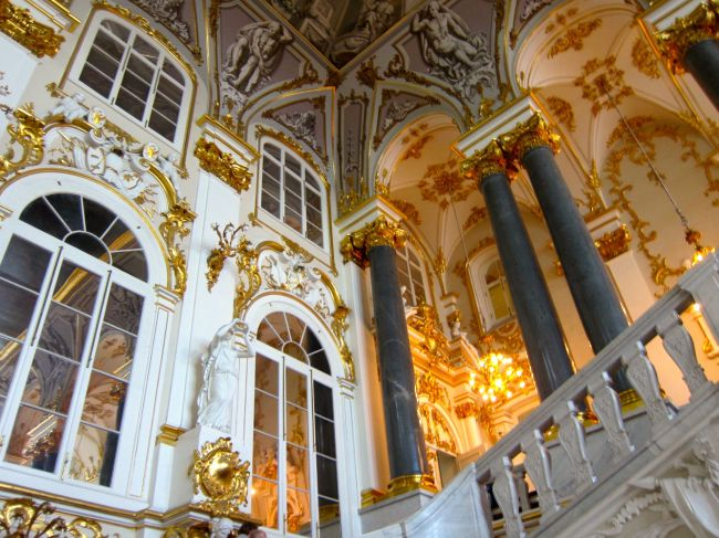 Inside Hermitage gold