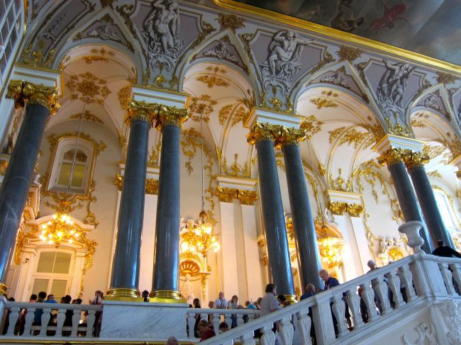Inside Hermitage stairs