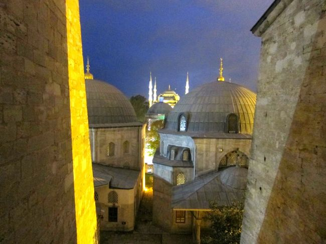 Hagia Sophia looking out at blue masque