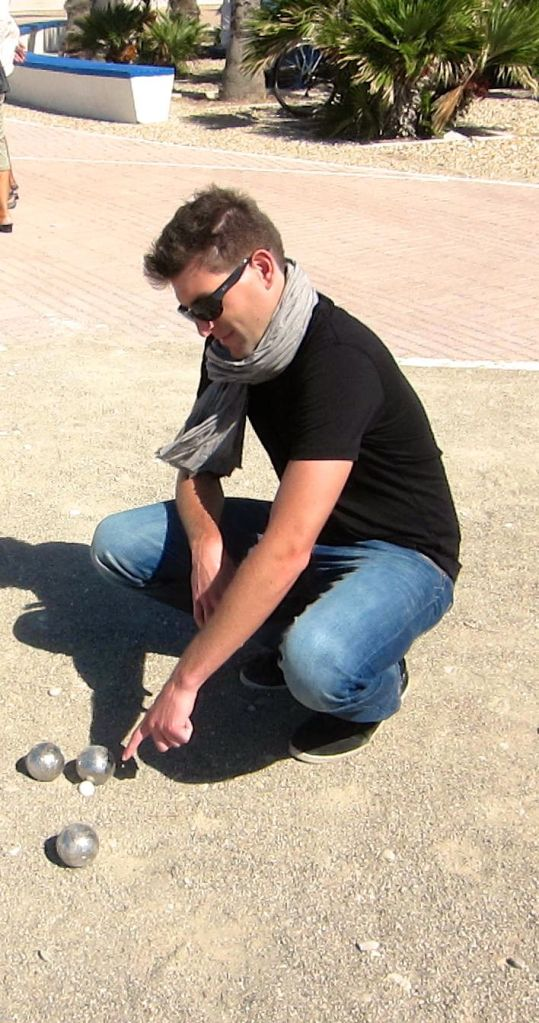 Playing boules in Italy