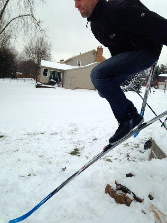 improvised ski jump