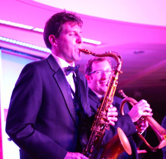 Onstage with great trumpeter and great dude, Mike Hankins