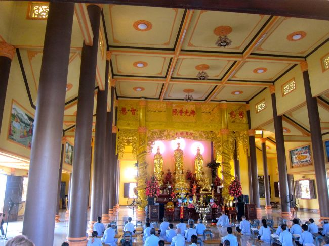 Inside of Pagoda with Monks