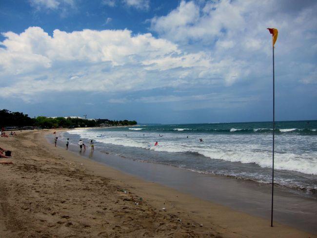 Kuta Beach High Tide 2