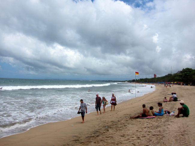 Kuta Beach High Tide