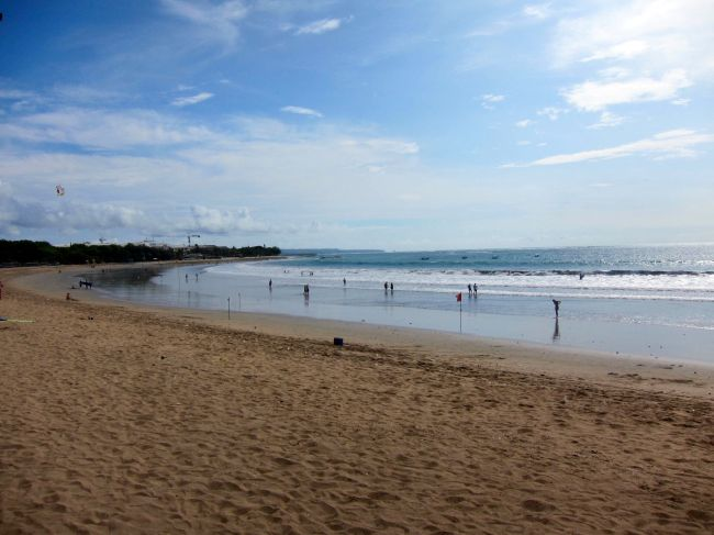Kuta Beach Low Tide