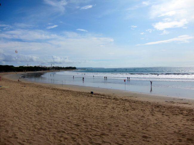 Kuta Beach Low Tide
